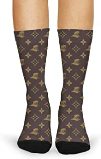 GuLuo Women's Long Dress Socks Non-Slid Training Crew Socks Popular Stretch Socks