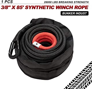 BUNKER INDUST Synthetic Winch Rope 3/8