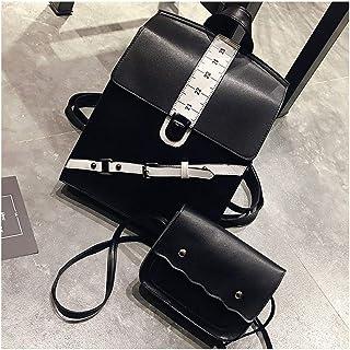 Luxury USB Backpack Female Vintage Pu Leather Bagpack Women Rucksack Backpacks Ladies Shoulder Bag School Bags Bag Teenage (Color : White, Size : M)