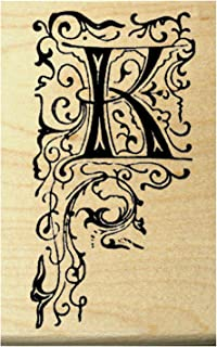 P22 Monogram letter K rubber stamp
