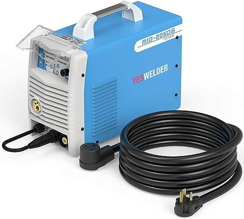 high quality YESWELDER outlet sale Digital MIG-205DS MIG Welder,200Amp 110/220V new arrival Dual Voltage MIG/Lift TIG/ARC 3 in 1 Welder&8AWG 20ft Welder Extension Cord sale