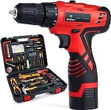 Dedeo Akku-Bohrhammer Werkzeugsatz, 60-teiliges Haushalts-Elektrowerkzeug-Bohrset mit 16,8V Lithium Treiber Klauenhammersc...