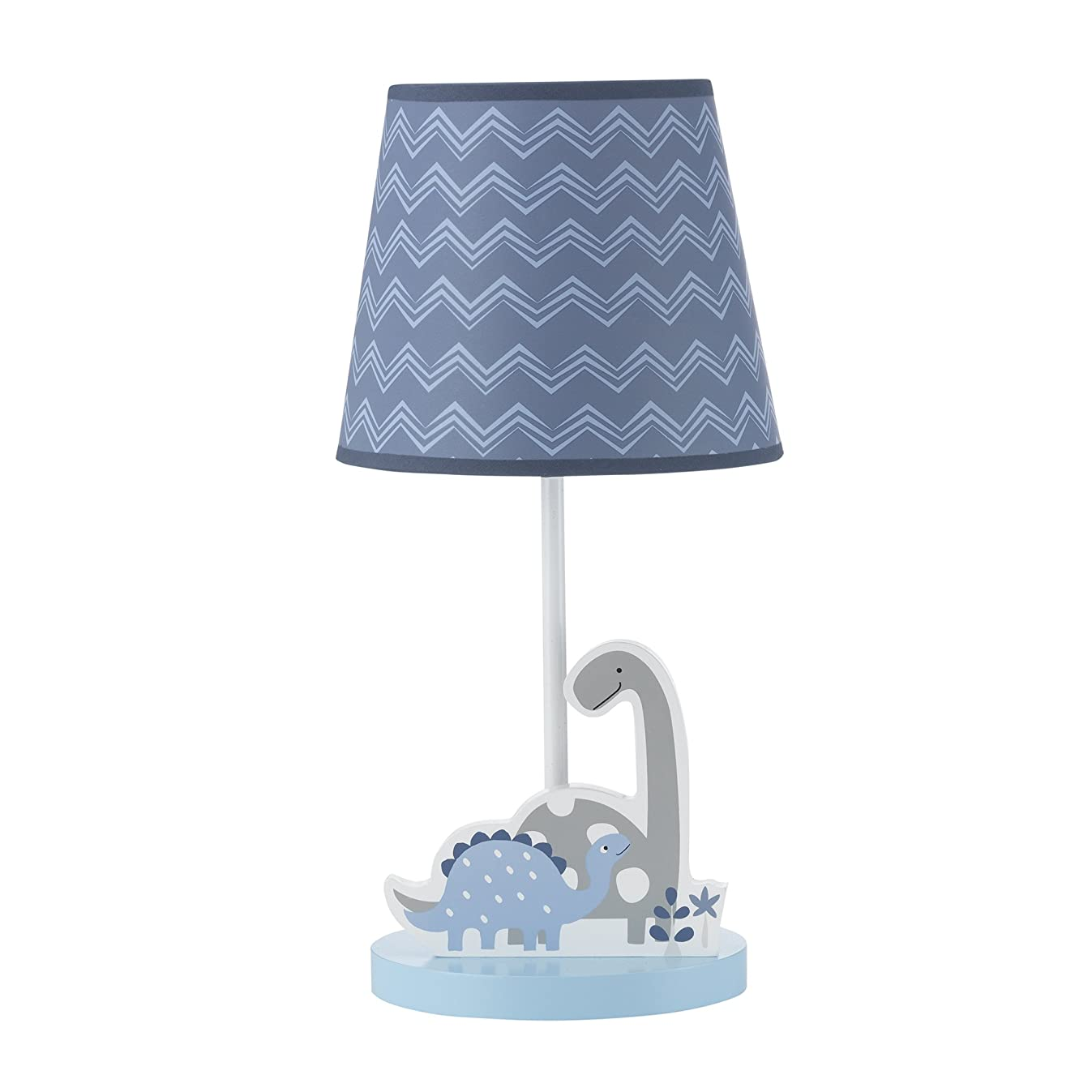 Bedtime Originals Roar Dinosaur Lamp with Shade & Bulb, Blue/Gray