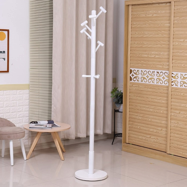 Coat Rack Coat Rack Floor Hanger Bedroom Clothes Rack Single-Rod Living Room Hall Hangers (color   White)