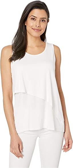Double Layer Asymmetrical Tank Top