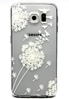 Galaxy S7 Case,3Cworld Ultra Thin Clear Art Pattern Crystal Gel TPU Rubber Flexible Slim Skin Soft Case for Samsung Galaxy S7 (Dandelion/Bird Flying-White)