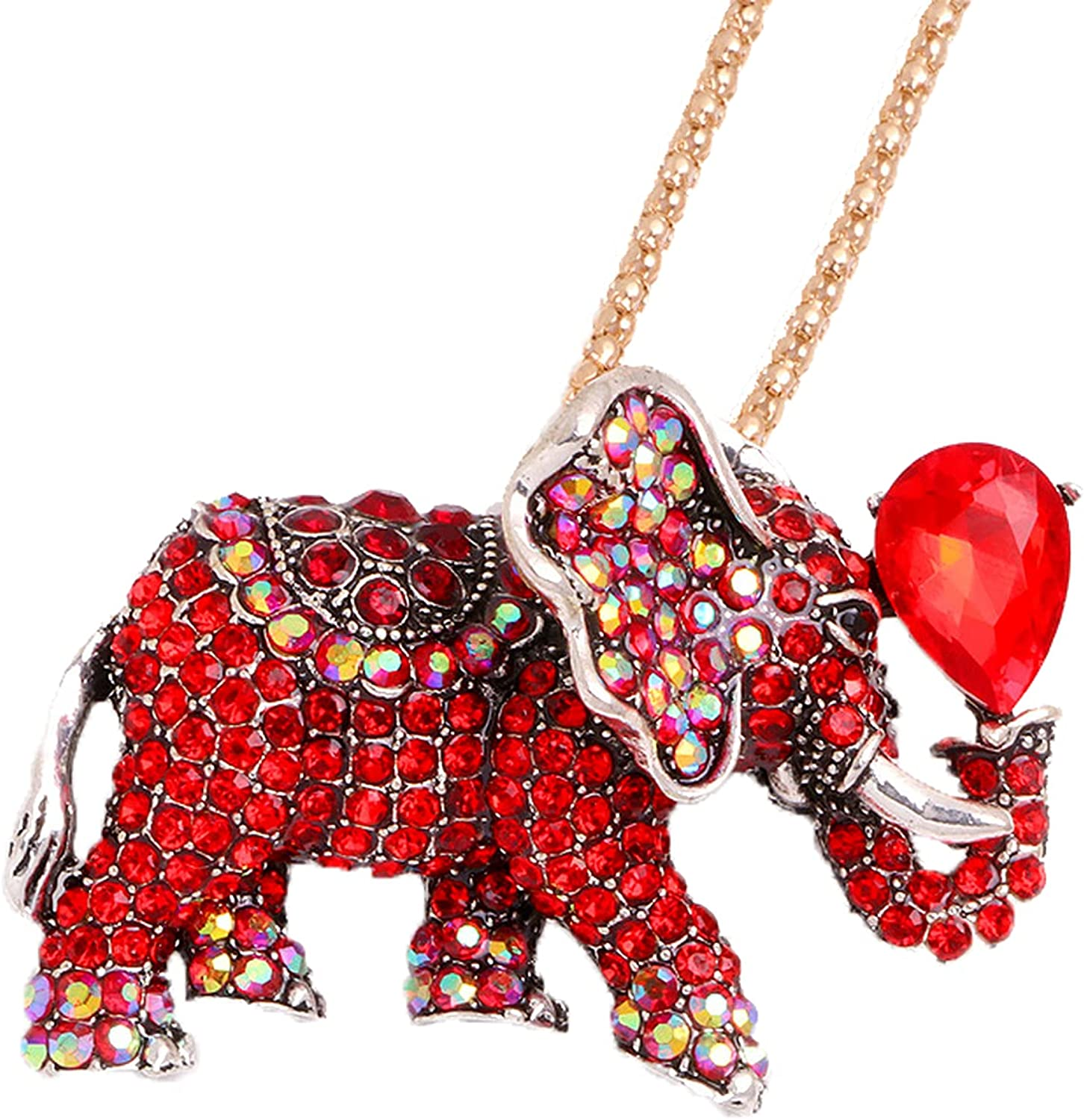 Cifibifun Elephant Crystal Brooch Pin Animal Pendant,Woman Girl Fashion Accessories Rhinestone Classic Luxuriant Style with Gift Packing for Her