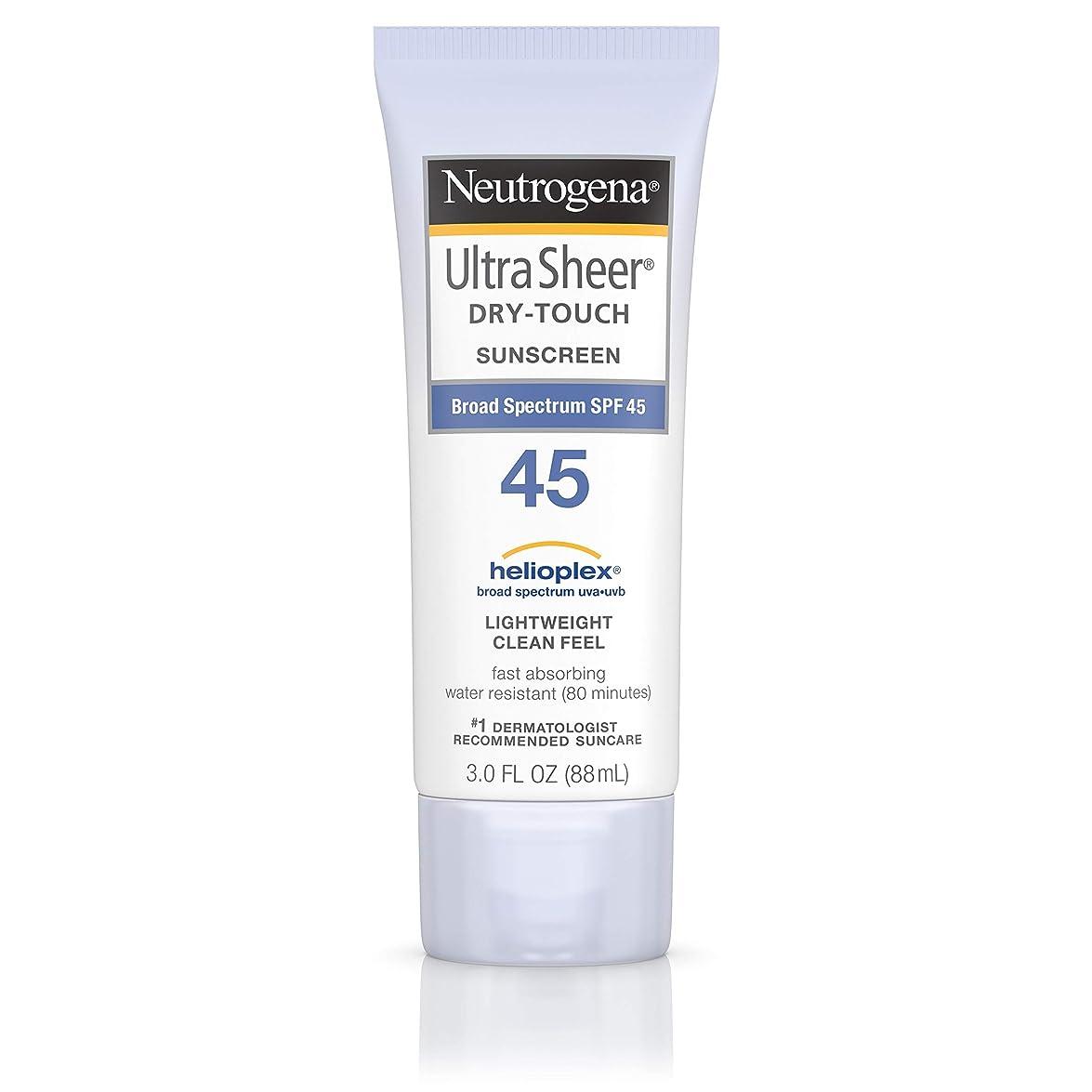 ラインナップ飾るフロント海外直送品 Neutrogena Neutrogena Ultra Sheer Dry-Touch Sunblock Spf 45【並行輸入品】
