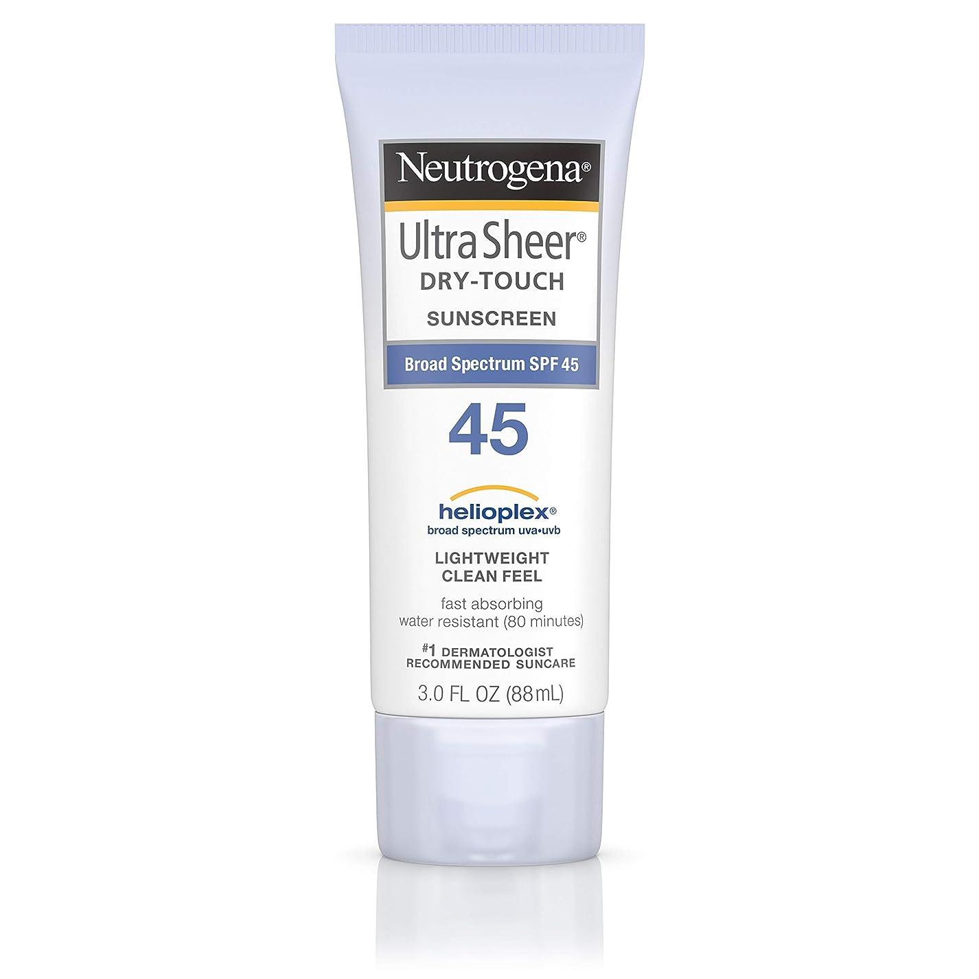 ミュートおびえた家事をする海外直送品 Neutrogena Neutrogena Ultra Sheer Dry-Touch Sunblock Spf 45【並行輸入品】