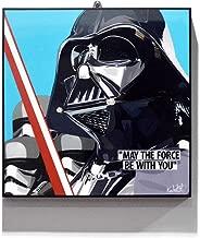 "Pop Art Star Wars Movie Quotes [ Darth Vader ] Framed Acrylic Canvas Poster Prints Artwork Modern Wall Decor, 10""x10"" 10 x 10 inch Black"