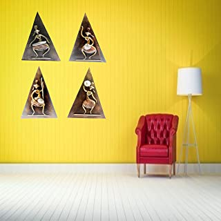 Modern Art Wall Painting Triangle Shape for Home Office and Temple and Home Décor Handcrafted Painting Wall Art Home Wall ...
