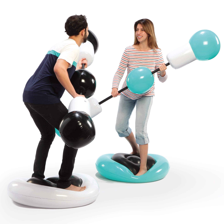 SHARPER Inflatable Sparring Pedestal Backyard