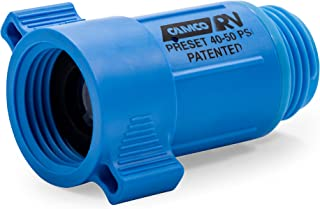 Camco 40143 Plastic Water Pressure Regulator - Prevents Damage To RV Water Hoses and Pumps From Inconsistent Water Pressur...