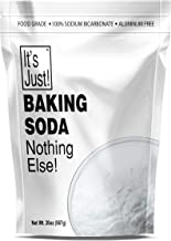 It's Just - Baking Soda, 100% Pure Sodium Bicarbonate, Aluminum Free, Food Grade, Made in USA, 20oz