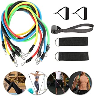 Exercise Bands Resistance Bands Set 11 Piece, Elastic Band Working Out Fitness Supplies, Resistance Training Gym Physical ...