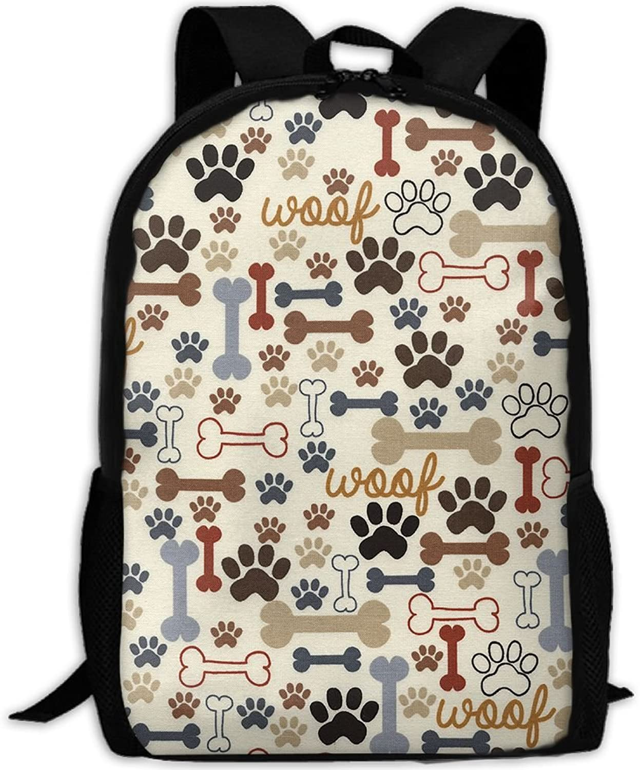 66efb31c0e8f Backpack Laptop School Bags Dog Bones Daypack Shoulder Bag Travel ...