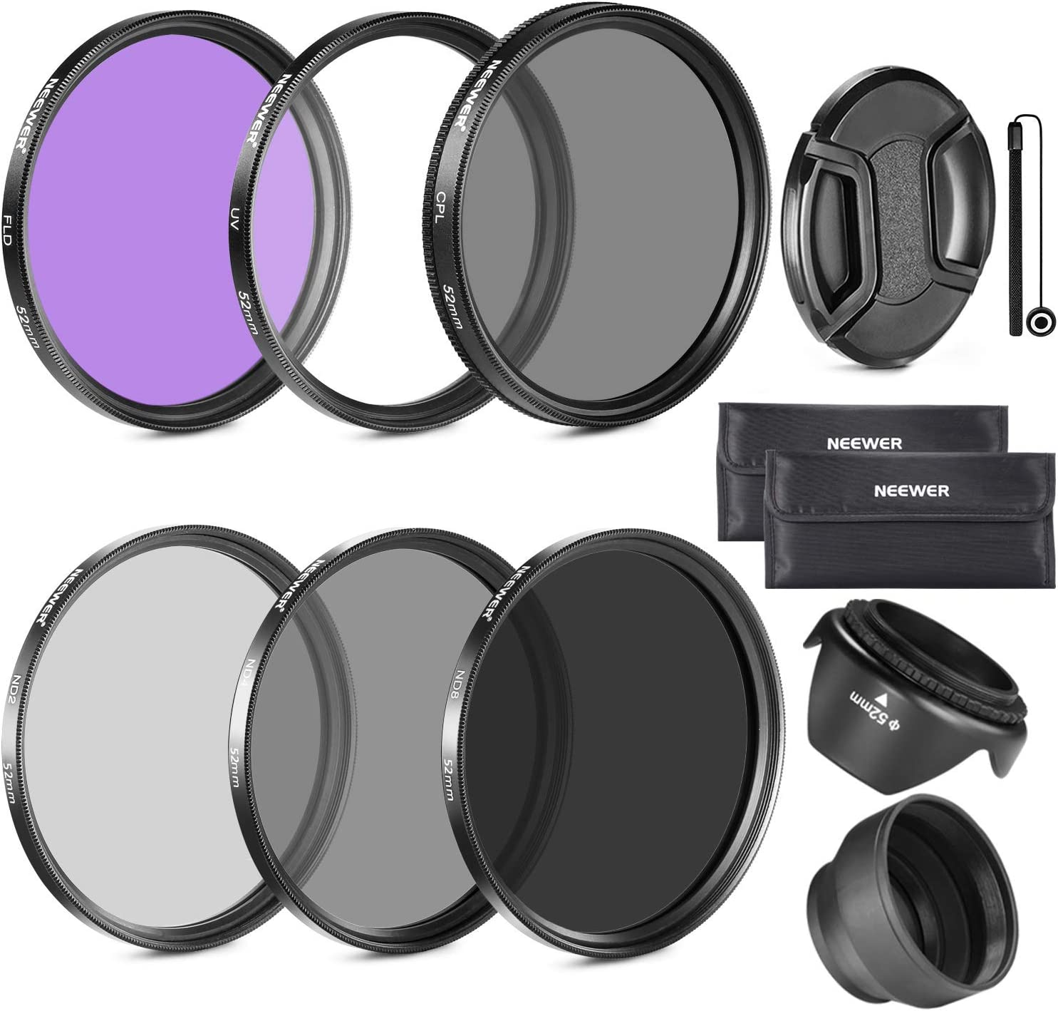 Spasm price Neewer 58MM Lens Filter Accessory Kit CANON FLD for Boston Mall CPL E UV