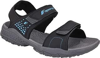 Fsports Terry Series Black TBlue Casual Sandal for Men