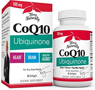 Sponsored Ad - Terry Naturally CoQ10 Ubiquinone, 100 mg - 60 Softgels - Clinically-Studied Antioxidant - Beneficial for He...