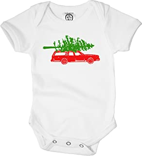 Christmas Tree Car Organic Cotton Baby Bodysuit