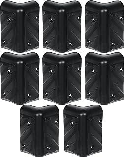 Reliable Hardware Company RH-1610-8-A Stackable Chevron Corner Durable HDPE Plastic Case, Set of 8