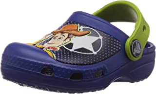 crocs Boy's CC Woody & Buzz Clog Cerulean Rubber Clogs and Mules