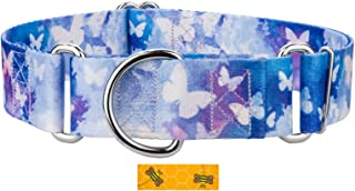 Country Brook Petz - 1 1/2 Inch Martingale Dog Collar - Animal Collection