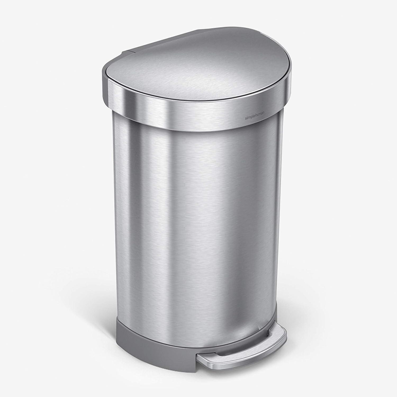 simplehuman 45 Liter 12 Gallon latest Direct stock discount Semi-Round Hands-Free Trash Step