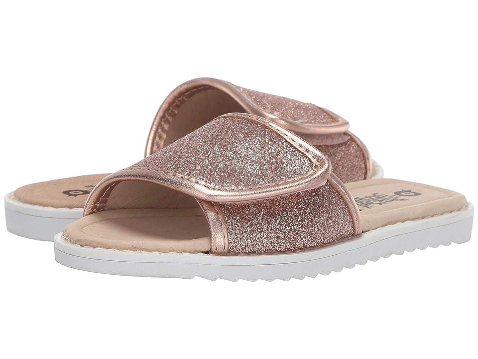 Old Soles Glam Slides (Toddler/Little Kid) (Glam Copper/Copper) Girl
