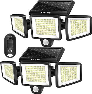 Solar Lights Outdoor, Kasonic 264 LED 2500LM Wireless Waterproof Solar Motion Sensor Light, 3 Adjustable Colors 3000K/4500...
