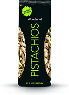 Wonderful Pistachios, Roasted and Salted, 24 OunceBag