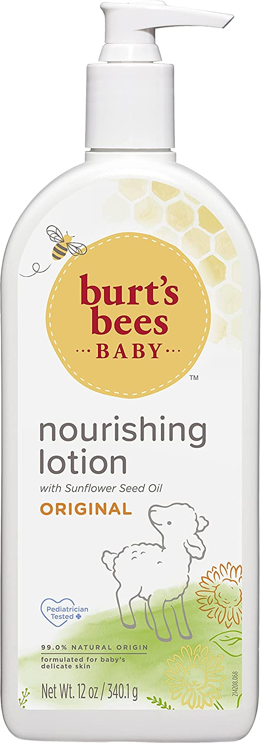 Burt's Bees Baby Nourishing Lotion, Original Scent Baby Lotion - 12 Ounce Bottle
