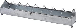Stonebriar Vintage Galvanized Metal Chicken Feeder Catchall, Country Rustic Home Decor Accents and Accessories, Use as Decorative Centerpiece, Mantel Decoration, or Planter
