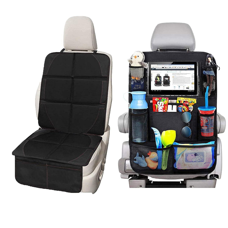 Car Seat Protector + Kick Mat Car Seat Organizer, Waterproof Padding Protector for Child Baby Car Seat, Prevent Car Seat Damage (Car Seat Protector + Kick Mat)