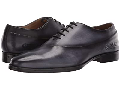 CARLOS by Carlos Santana Coltrane Whole Cut Oxford (Dark Blue Calfskin Leather) Men