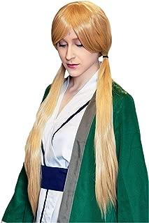 DAZCOS 80cm Anime Tsunade Cosplay Costume Halloween Wig (Yellow)