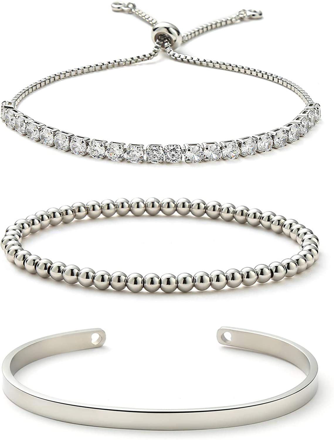 Starain OFFicial site High quality new 18K Gold Plated Tennis Bracelets for Women Z Cubic White