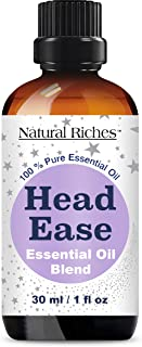 Natural Riches Migraine & Headache Pain Relief Essential Oil Blend for Head Ease Aromatherapy - Lavender, P...