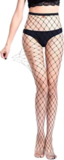 Women Hot Chic Vintage Black Big Cross Fishnet Tights Seamless Nylon Large Mesh Stockings Pantyhose