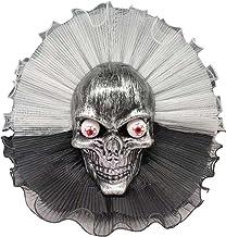 Guirlanda De Halloween Assustador Crânio Preto Porta Pendurada Na Parede Decoração Festival Horror Party Coroa De Ornament...