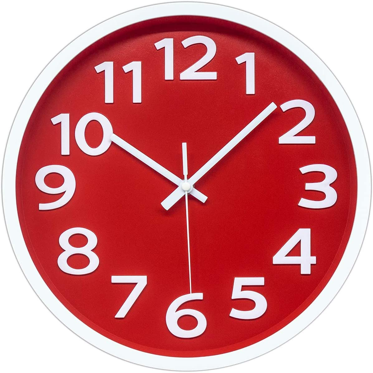 12 Inch Modern Wall Clock Department store Operated San Jose Mall Silent 3D Battery Non-Ticking