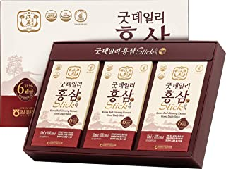 [Gangwoninsam] Korean Red Ginseng Extract Good Daily Stick 30 Count – 6 Year Old Red Ginseng Extract, Korean Health Food, Individually Packaged, 0.35 fl. oz (10ml), 3 X 10-Count Box