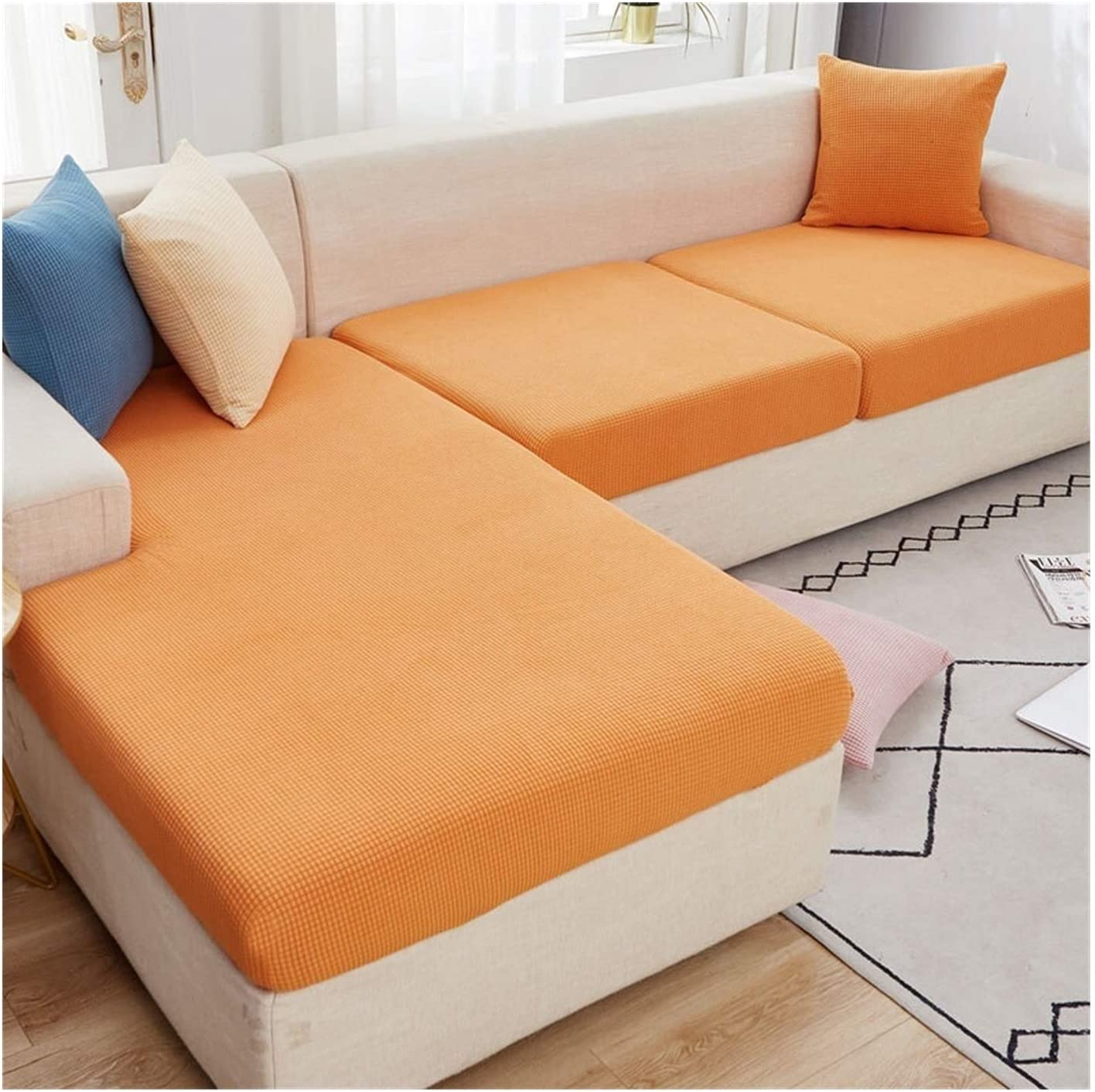 JPMSB Soft Plush Sectional Corner Cushion Sofa Seat Cover Price reduction Couch Houston Mall