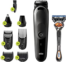 Braun Hair Clippers for Men MGK3260, 7-in-1 Beard Trimmer, Ear and Nose Hair Trimmer, Detail Trimmer, Cordless & Rechargea...