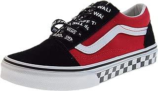 Vans Kids Logo Pop Old Skool Boy's Skate Shoes (13 US Little Kid)