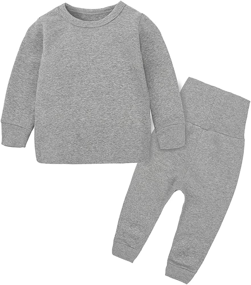 NEW MYGBCPJS Little Boys Girls Cotton Quality inspection Set Thermal Pajamas Underwear