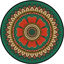 Decorative Carpet, Rug Round for Living Room Children's Room Kitchen Hallway Color/Modern Minimalist Style Retro Carpet,F-...