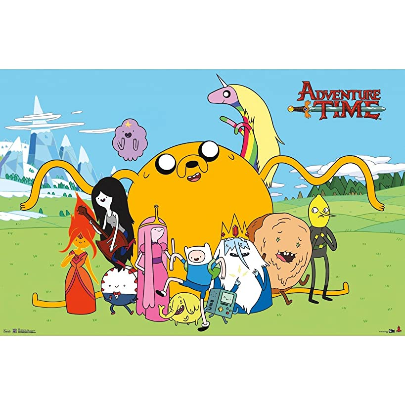 Adventure Time Characters Children's Animated Comedy TV Television Show Print Poster (24X36 UNFRAMED POSTER)