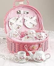 pink china tea set