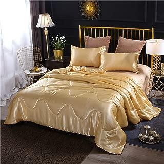 Best gold satin comforter Reviews
